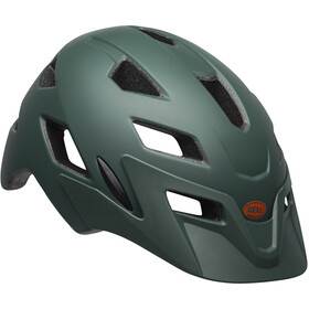 Bell Sidetrack Casco Bambino, matte dark green/orange